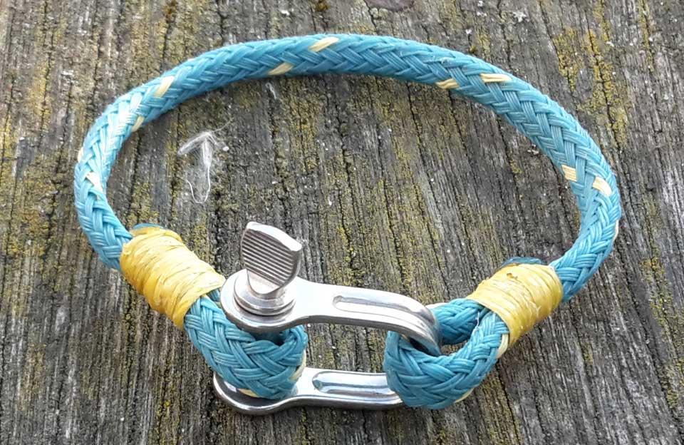 dames armband scheepstouw en staal