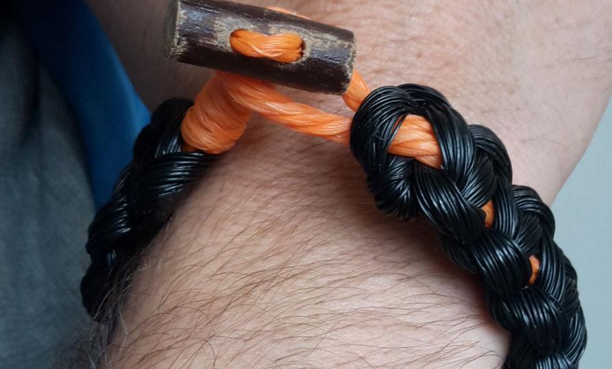 gerecyclede armband